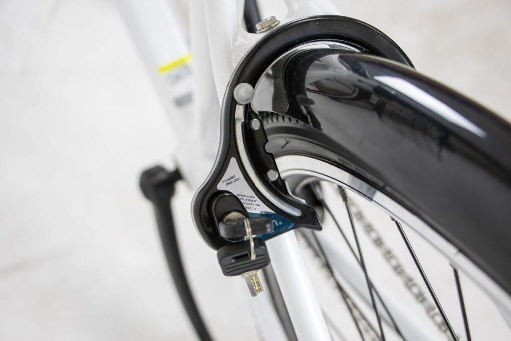 駐輪に便利なサークル錠