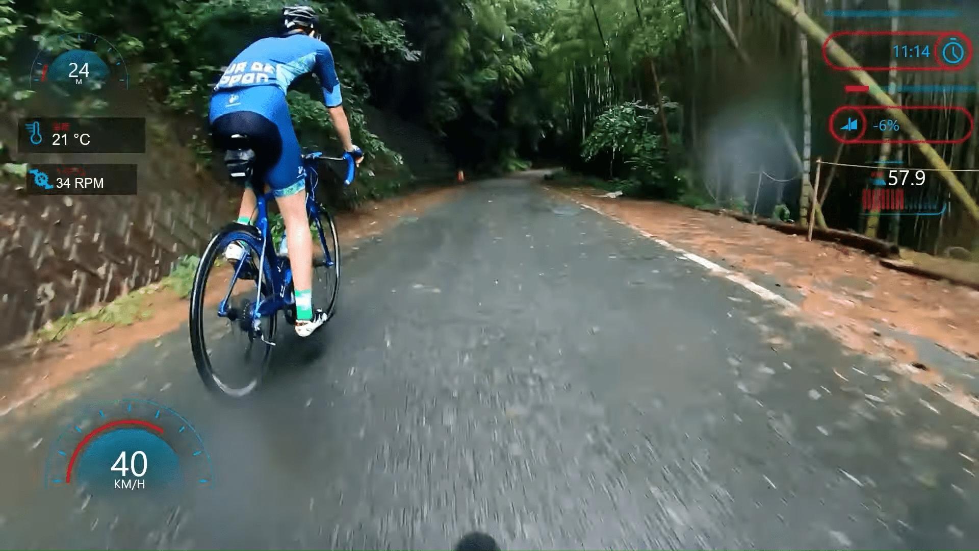 下りが速い武内さん。雨の下りはブレーキが効かないため、怖く感じます。