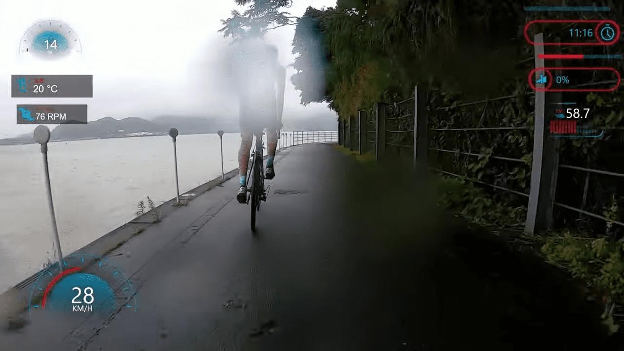 サイクリングロードには柵のないところも