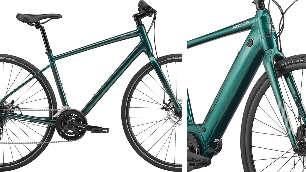 人気のエメラルドがQuick5に登場。e-bikeバージョンのQuick Neo(画像右)にも使われている高級感あるカラーだ。