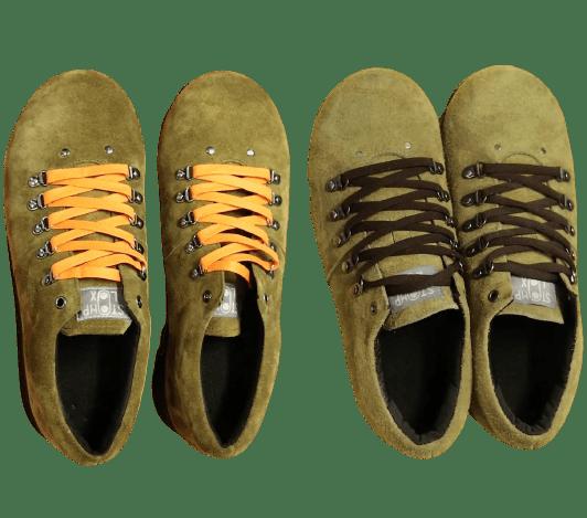 紐の色を変えることで、足元の雰囲気が変わる