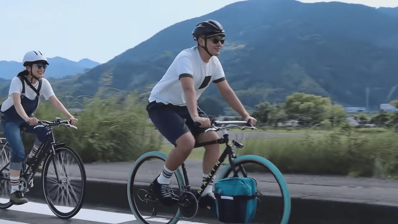 SLAKを履いてサイクリングを体験