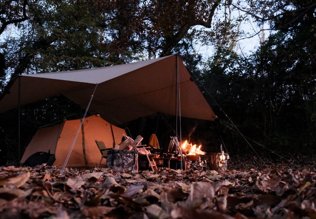 秋冬はキャンプツーリングのベストシーズン