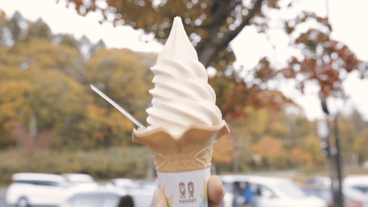 山塩ソフトクリーム。あまじょっぱさがクセになる
