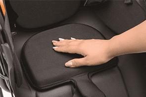 座り心地が快適なサポートクッション