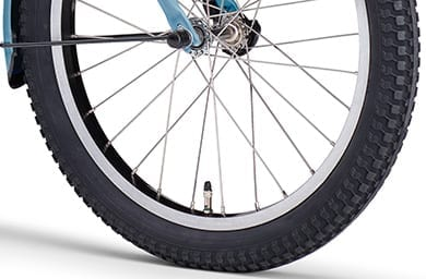 安定性の高い幅広タイヤ(ファットタイヤ)