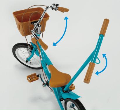 「いきなり自転車」の押し手棒はかじとり式