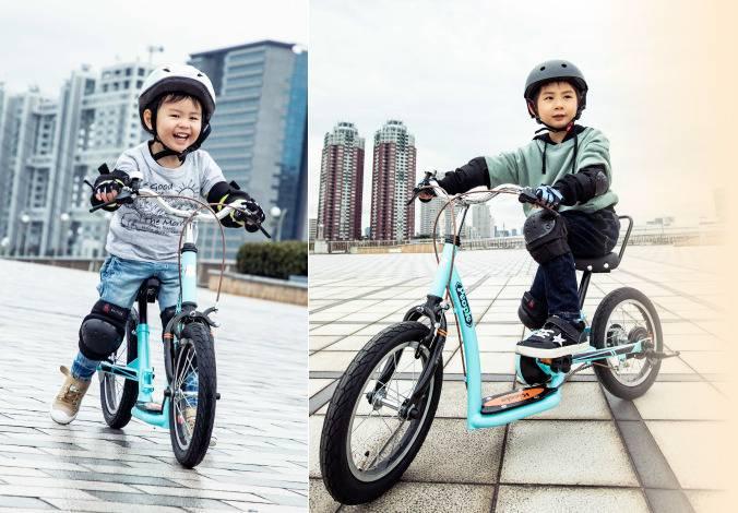 キックルは「足けりバイク」「キックスケーター」2つのモードから始められる