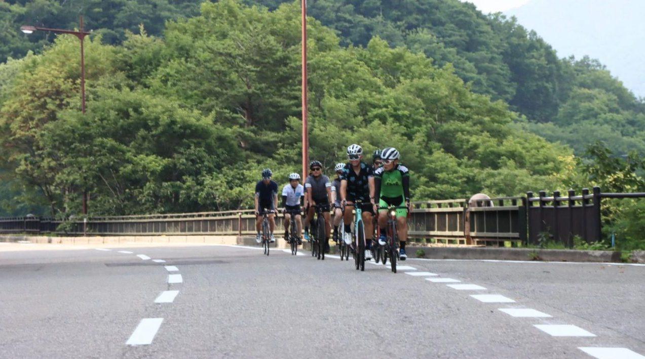 桧原大橋でサイクリング