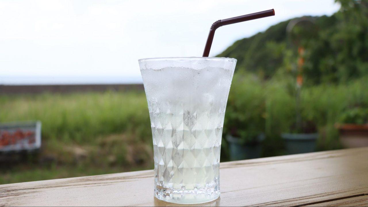 石窯・自然カフェとと・ここ 甘夏ジュース