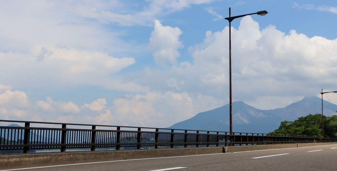 桧原湖 磐梯山 ロードバイク