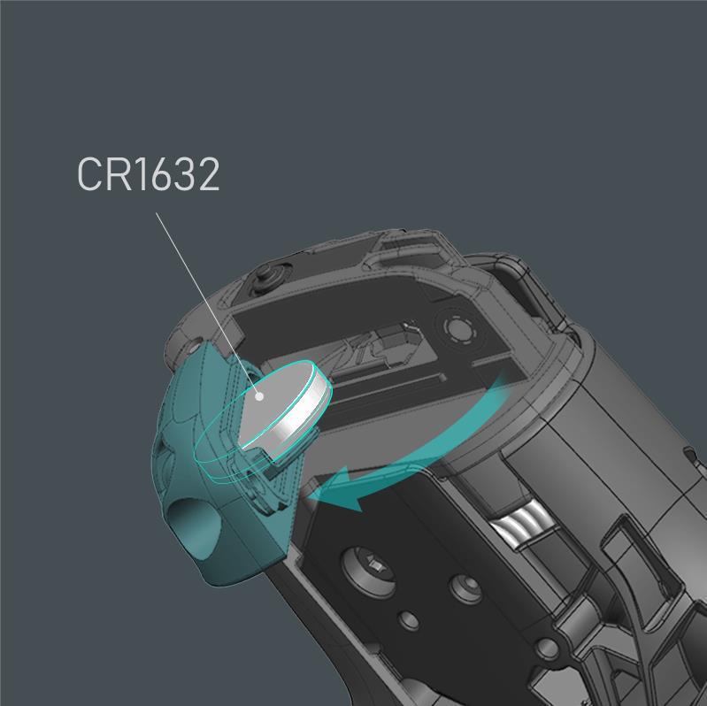 ST-R8170はCR1632コインバッテリーで駆動